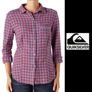NWT/QuiksilverCapitan Flannel Button Down Shirt